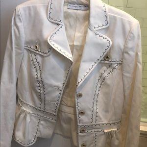 Carolina Herrera summer fitted off white jacket